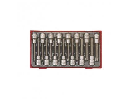"""Sada Teng Tools 118890102 1/2"""" hlavic torx TX20-60, imbus 5-12, dlouhých, 15 dílů"""