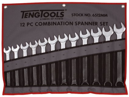 Teng Tools Sada plochých očkových klíčů 20-32mm, pouzdro