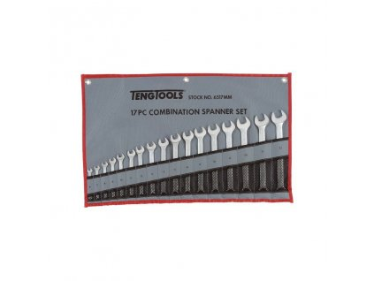 Teng Tools Sada plochých očkových klíčů 6-22mm, pouzdro