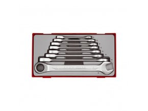 Sada Teng Tools ráčnových klíčů rovných, 8-19mm, 8 dílů