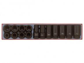 "Sada Teng Tools 3/4"" rázových hlavic 19-30mm, 19-36mm dlouhé, 15 dílů"