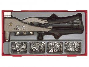 Sada Teng Tools nýtovacích kleští na matic.nýty M3 - M6, 81 dílů