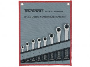 Sada Teng Tools očkopl.ráč.klíčů rovných 8-19mm, látk. pouzdr