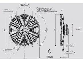 Ventilátor SPAL 12V VA10-AP70/LL-61A